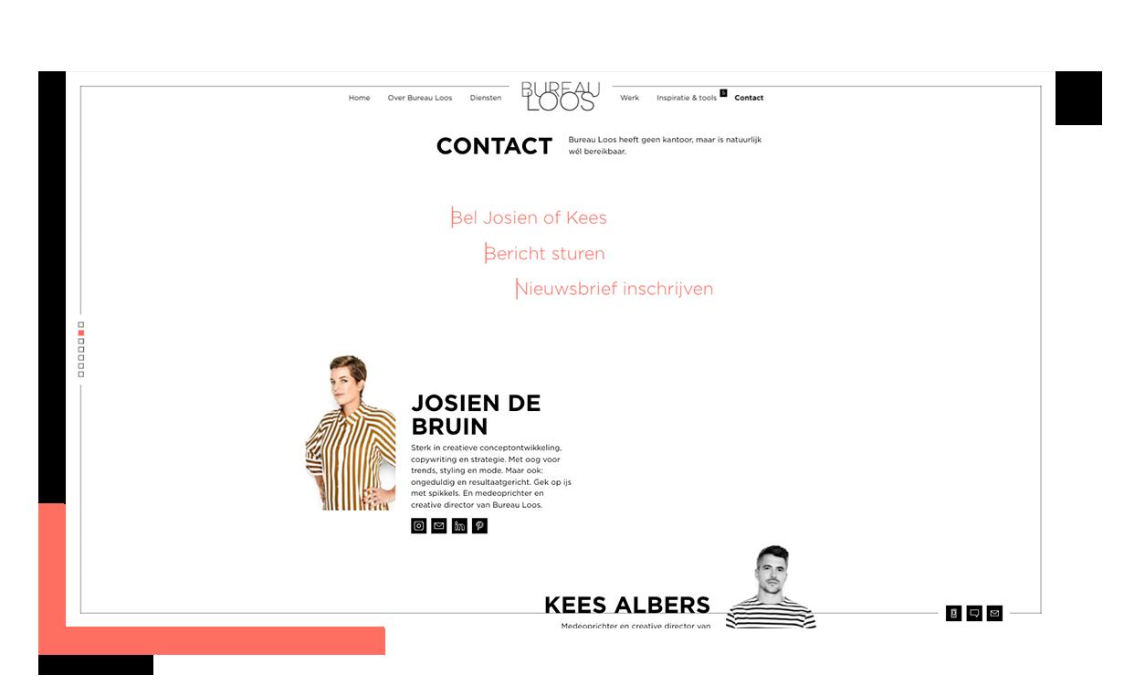 Bureau Loos Contact pagina overzicht