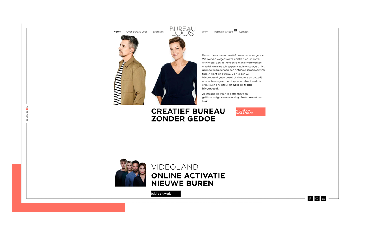 Bureau Loos homepagina Creatief bureau zonder gedoe