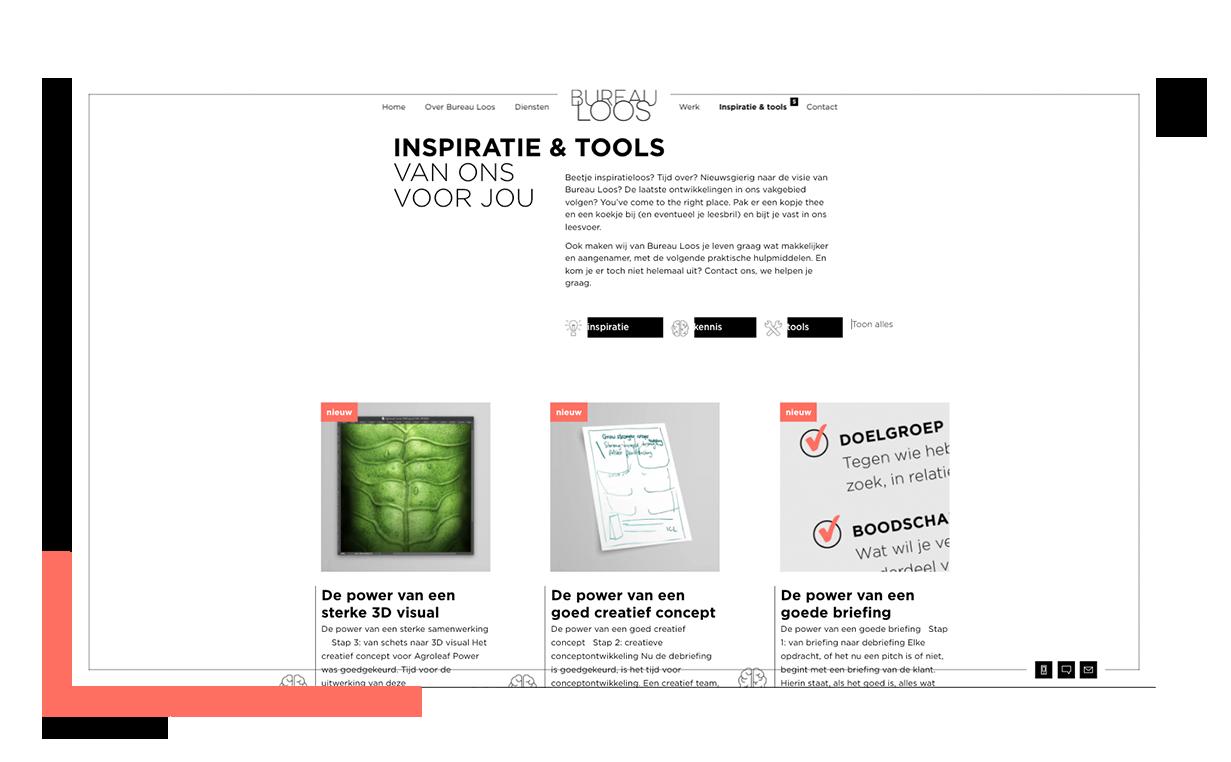 Bureau Loos Inspiratie & Tools overzichtspagina